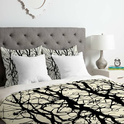 Tree Silhouette Duvet Cover Set Size: Twin/Twin XL