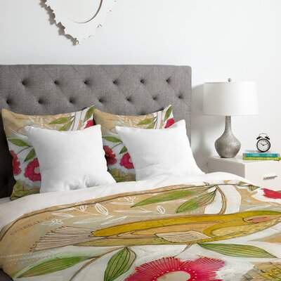 Sweet Meadow Bird Duvet Cover Set Size: Twin/Twin XL