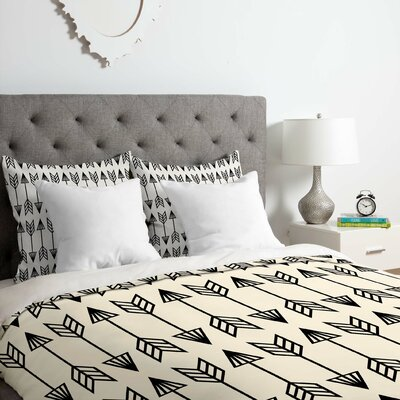 Arrows Duvet Cover Set Size: Queen