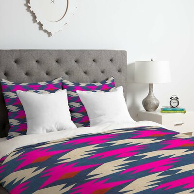 Holli Zollinger Diamond Kilim Duvet Cover Set Size: Queen