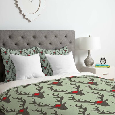 Deer Duvet Cover Set Size: Queen