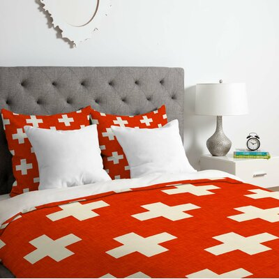 Vermillion Plus Duvet Cover Set Size: Queen