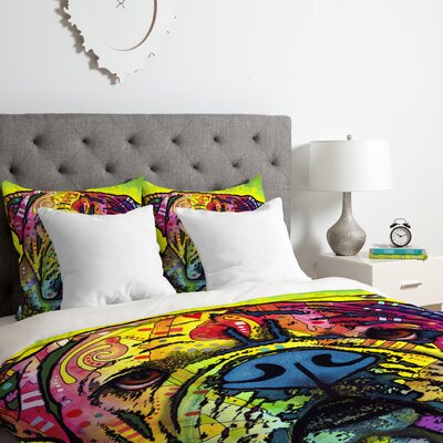 Dean Russo Hey Bulldog Duvet Cover Set Size: Queen