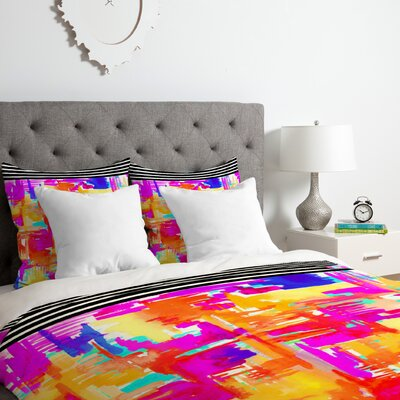 Colorful Chaos 1 Duvet Cover Set Size: King