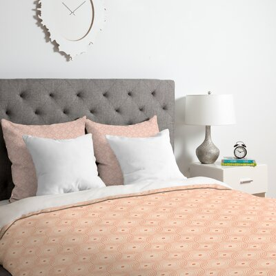 Rosy Spirals Duvet Cover Set Size: Twin/Twin XL