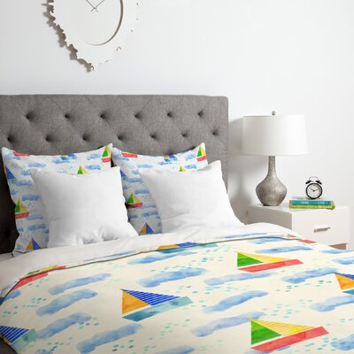 Hello Sayang Ahoy Hoy Duvet Cover Set Size: Twin/Twin XL