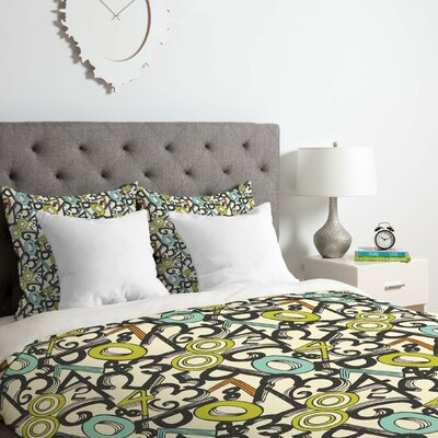 Heather Dutton Numero Uno Duvet Cover Set Size: Twin/Twin XL