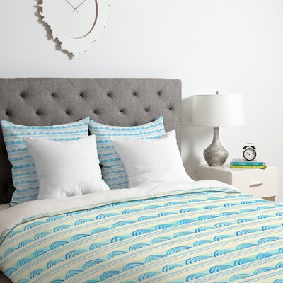 Scallops Duvet Cover Set Size: Twin/Twin XL