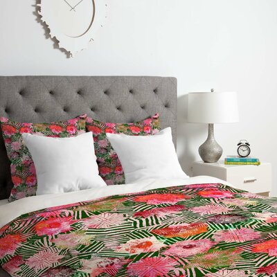 Birch Rose Collection 1 Duvet Cover Set Size: Twin/Twin XL