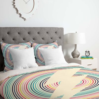 Fimbis Bolt Duvet Cover Set Size: Queen