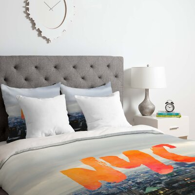 Nyc Skyline Duvet Cover Set Size: King