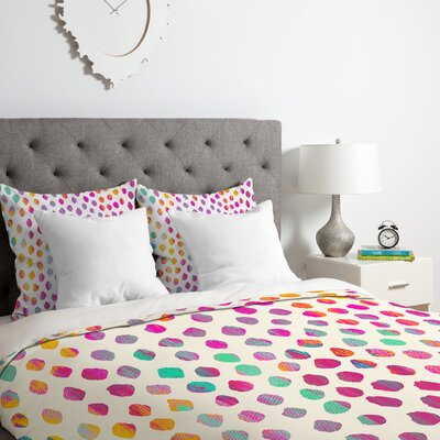 Dots Duvet Cover Set Size: Queen