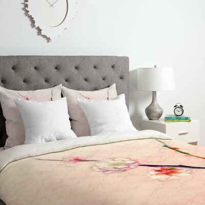 Pale Spring Duvet Cover Set Size: Queen