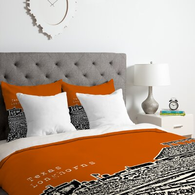 Texas Longhorns Duvet Cover Set Size: Twin/Twin XL