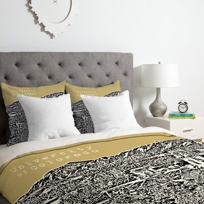 University of Colorado Duvet Cover Set Size: King