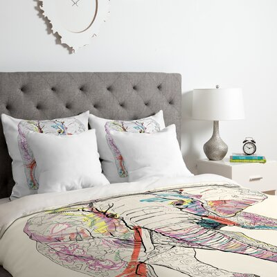 Elephant 1 Duvet Cover Set Size: King
