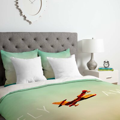 Fly Away Duvet Cover Set Size: Twin/Twin XL