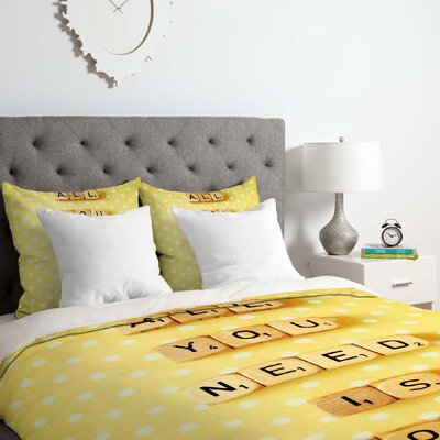 All You Need Is Love 1 Duvet Cover Set Size: Twin/Twin XL