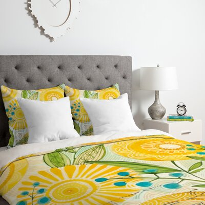 Cori Dantini Sun Burst Flowers Duvet Cover Set Size: Twin/Twin XL