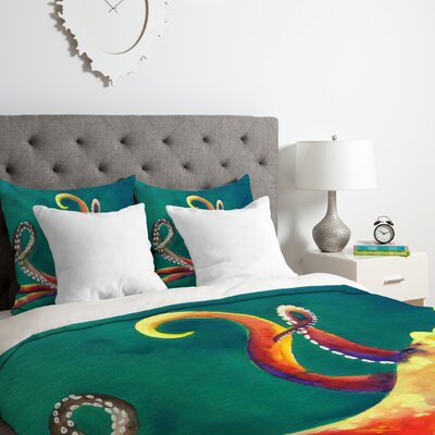 Octopus Duvet Cover Set Size: King