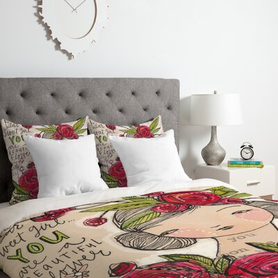 Sweet Girl Duvet Cover Set Size: Queen