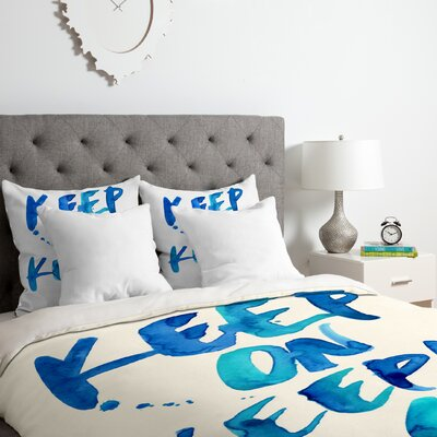 CMYKaren Keep on Keepin Duvet Cover Set Size: King