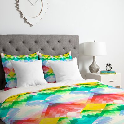 Deniz Ercelebi Crystal Rainbow Duvet Cover Set Size: Queen