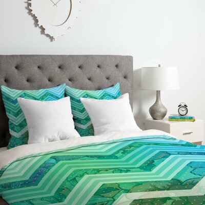 Azul Duvet Cover Set Size: Queen