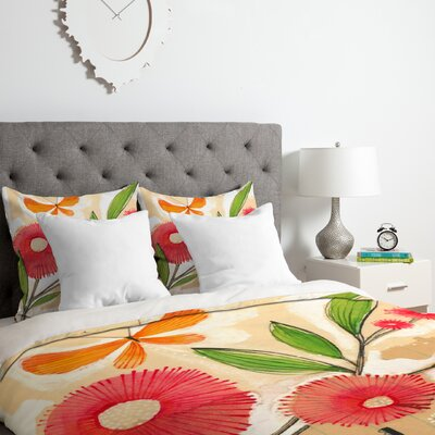 Blossom 1 Duvet Cover Set Size: Twin/Twin XL