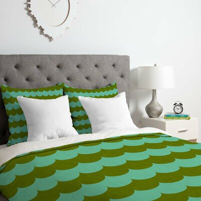 Waves of Color Duvet Cover Set Size: Queen