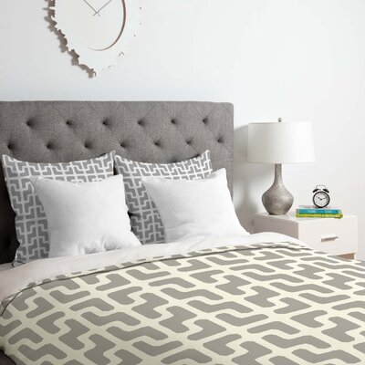 Lattice Jags Duvet Cover Set Size: Queen