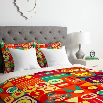 Circus Duvet Cover Set Size: King