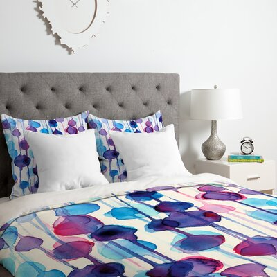 Abstract Watercolor Duvet Cover Set Size: Queen