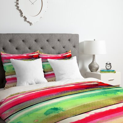 Ink Duvet Cover Set Size: King