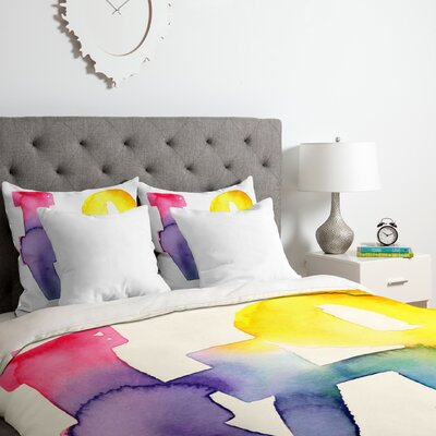 CMYKaren Love 4 Duvet Cover Set Size: King