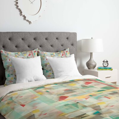 Mosaic Duvet Cover Set Size: Queen