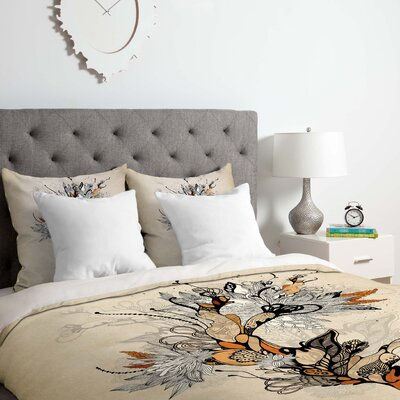 Floral 1 Duvet Cover Set Size: Queen