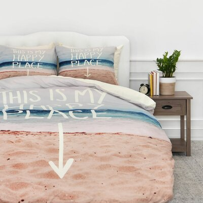 Happy Place X Beach Duvet Cover Set Size: Twin/Twin XL