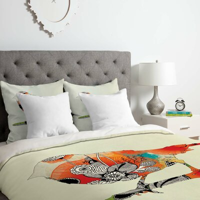 Little Bird Duvet Cover Set Size: Twin/Twin XL