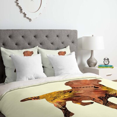 Brown Lab Duvet Cover Set Size: King
