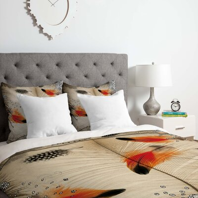 Feather Dance Duvet Cover Set Size: King