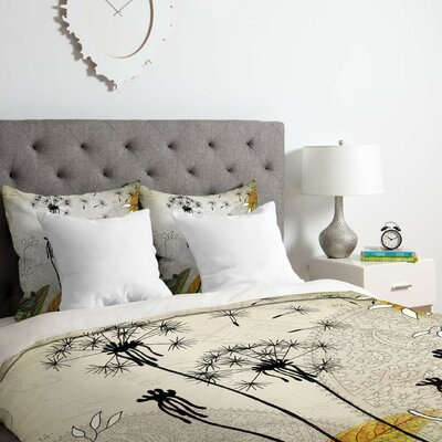 Little Dandelion Duvet Cover Set Size: Queen