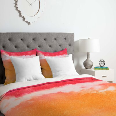 Laura Trevey Tie Dye Duvet Cover Set Size: Queen