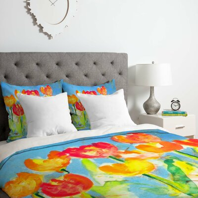 Tulips Duvet Cover Set Size: Twin/Twin XL