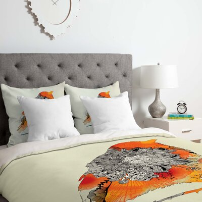 Bird Duvet Cover Set Size: Queen