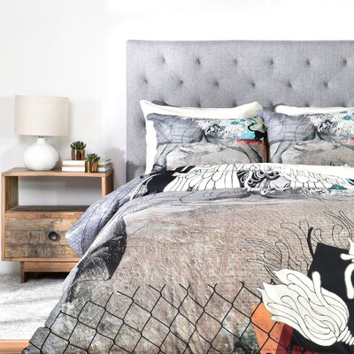Iveta Abolina Stay Awhile Duvet Cover Set Size: Queen
