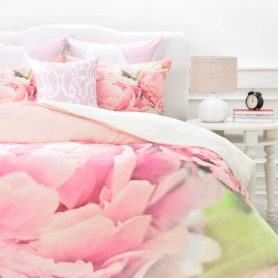 Peonies Duvet Cover Set Size: King