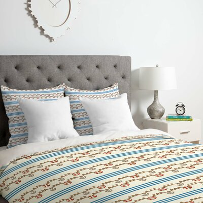 Jennifer Denty Anchor Small Duvet Cover Set Size: Queen