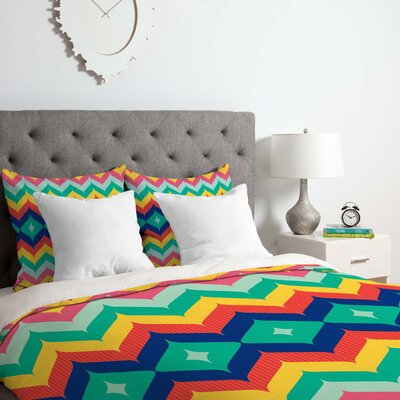 Chevron 5 Duvet Cover Set Size: Queen