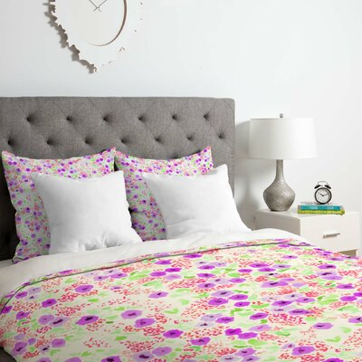 Floral Duvet Cover Set Size: Queen